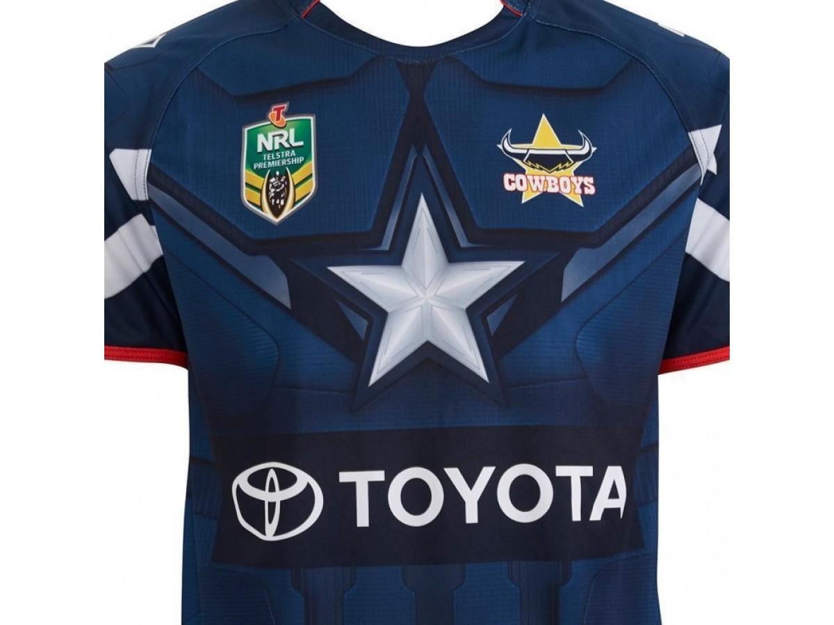 promo code e0692 f5894 Discount North Queensland Cowboys Men's Captain America Marvel Jersey